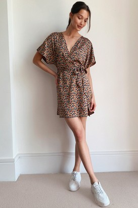 Nasty Gal Womens Work of Art Abstract Mini Dress - Brown - 4, Brown