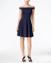 ECI Off-The-Shoulder Fit & Flare Dress