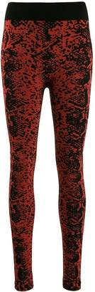 Wolford Blotched Snake leggings