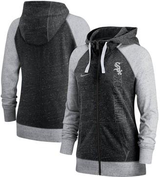 Nike Women's Black Chicago White Sox In Pocket Gym Vintage Full-Zip Hoodie