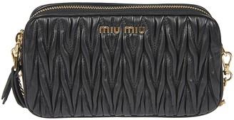 Miu Miu Weaved Effect Detachable Strap Shoulder Bag