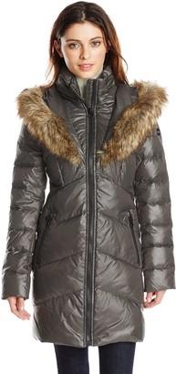 Kensie Women's Down Jacket with Faux Fur Hood