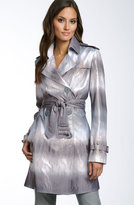 Jessica Simpson Ombré Sateen Trench