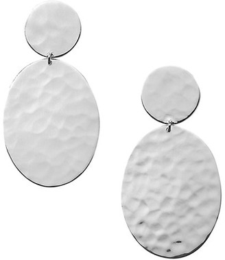 Ippolita Classico Hammered Sterling Silver Oval Snowman Earrings