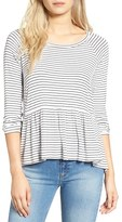 BP Women's Stripe Peplum Tee