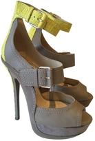 Jimmy Choo Ecru Leather Heels