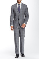 English Laundry Plaid Two Button Notch Lapel Wool Suit