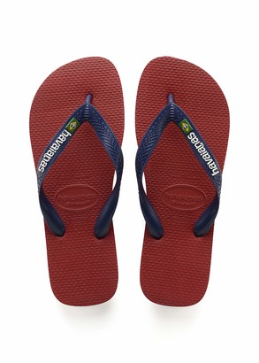 Havaianas Men's Brazil Logo Flip Flop Sandal Navy Blue 11/12 M US