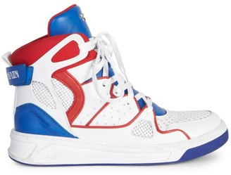 Balmain Keith Leather High-Top Sneakers