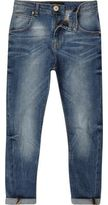 River Island Boys mid blue wash Tony slouch fit jeans