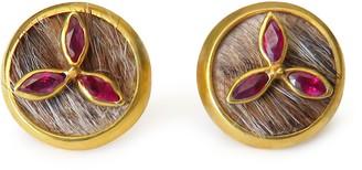 Isabel Englebert Oliver Ruby 18k Gold Cufflinks