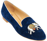 C. Wonder As Is Elephant Embroidered Suede Loafers - Carly