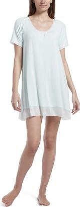 Hue Women's SleepWell with TempTech Short Sleeve Nightgown Sleepshirt