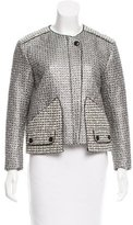 Sandro Metallic Collarless Jacket