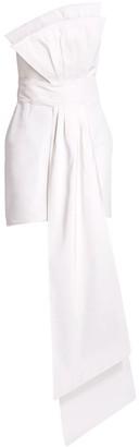 Estelle Front-Drape Silk Mini Sheath Dress