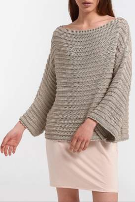 Aggel Melangie Wide-Sleeve Sweater