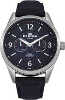Ben Sherman Men's 'Big Carnaby Utility' Quartz Silver-Tone and Nylon Casual Watch, Color: (Model: WB069UU)
