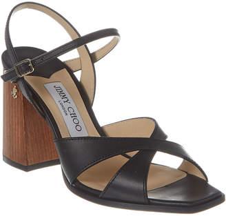 Jimmy Choo Joya 85 Vachetta Leather Sandal