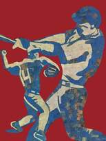 Oopsy Daisy Fine Art For Kids Canvas Wall Art Mosaic Baseball Player by Jones and Eggy, 18 by 24-Inch