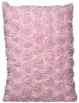 Just Contempo Rose Ruffles Cushion, Pink, 40x30 cm