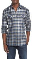 James Campbell Regular Fit Plaid Sport Shirt