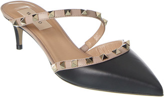 Valentino Rockstud Hype 50 Leather Mule
