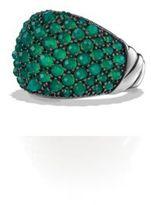 David Yurman Osetra Dome Ring with Green Onyx