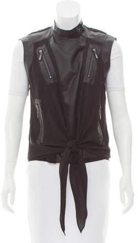 Alexander McQueen Sleeveless Embossed Vest