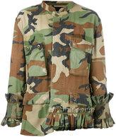 Erika Cavallini - camouflage jacket - women - Cotton - One Size