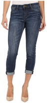 KUT from the Kloth Kathleen Slim Boyfriend Jeans in More w/ Dark Stone Base Wash