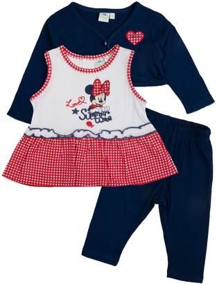 Disney Minnie Mouse Baby Girls Outfit Red 24 Months