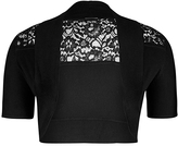 City Chic Elbow Sleeve Lace Trim Shrug