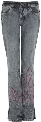 Filles a papa Grey crystal-embellished straight-leg jeans