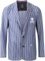 Loveless - pinstriped single breasted blazer - men - Cotton/Nylon - L