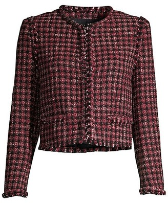 HUGO BOSS Johella Cropped Tweed Jacket