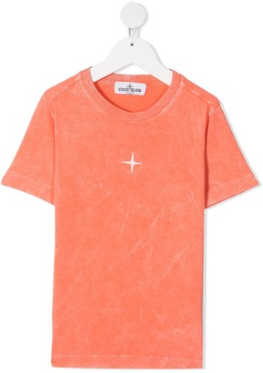 Stone Island Junior Faded Cotton T-Shirt