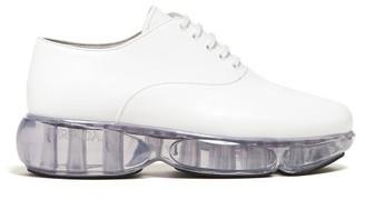 Prada Cloudbust Leather Oxford Shoes - White