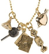 How Sweet It Is Charm Necklace - Goldtone