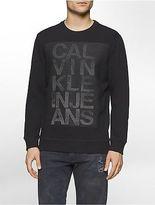 Calvin Klein Mens Mesh Logo Sweatshirt