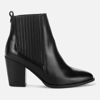 Clarks Women's West Lo Leather Heeled Ankle Boots - Black