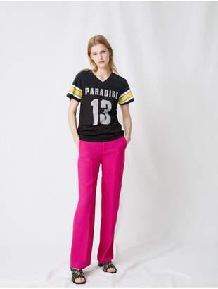 Maje Sports Jersey-Style T-Shirt