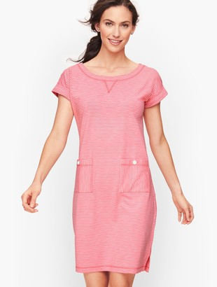 Talbots Patch Pocket Stripe T-Shirt Dress
