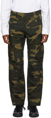 Carhartt Work In Progress Green Ripstop Camo Cargo Pants