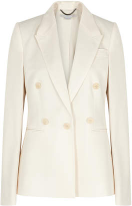 Stella McCartney Cream Double-breasted Wool Blazer