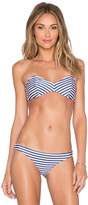 Amuse Society Mercury Stripe Bandeau Bikini Top