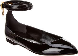 Valentino Patent Ankle Strap Ballerina Flat