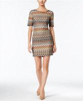 Jessica Howard Petite Chevron-Print Sheath Dress
