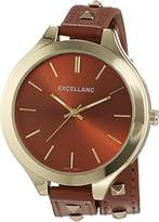 Excellanc Women's Quartz Watch with Faux Leather 199207500001