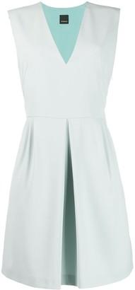 Pinko V-neck pleated dress