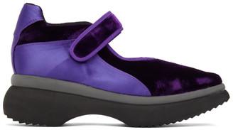Paula Canovas Del Vas Purple Velvet Diablo Sneakers
